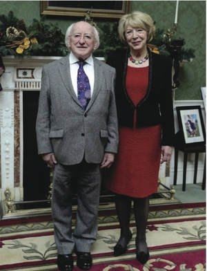 President Michael D Higgins and his wife Sabina.