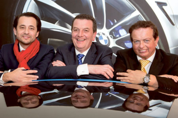 Paolo Alvez, managing director, BMW Ireland; Colm Quinnl; and RTÉ Sports presenter, Marty Morrissey pictured at the launch of the new state-of-the-art Colm Quinn BMW showroom in Galway. Colm Quinn BMW Galway has created 25 new jobs.