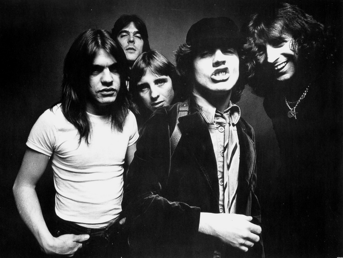AC/DC - a photo from 1978 that would form the basis of the Highway To Hell album cover.