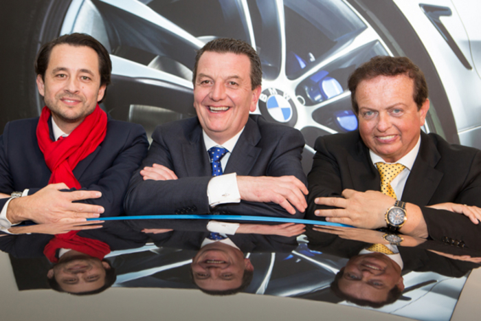 Pictured (L-R) Paulo Alves, managing director of BMW Ireland, Colm Quinn, and Marty Morrissey of RTE.