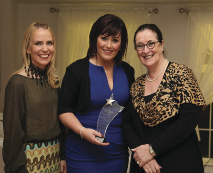 Nollaig na mBan Inspirational Woman 2015 Martina Jennings pictured with Senator Marie Louise McDonnell and Therese O'Grady, Sports Clinic West, who sponsored the event. Photo: Trish Forde.