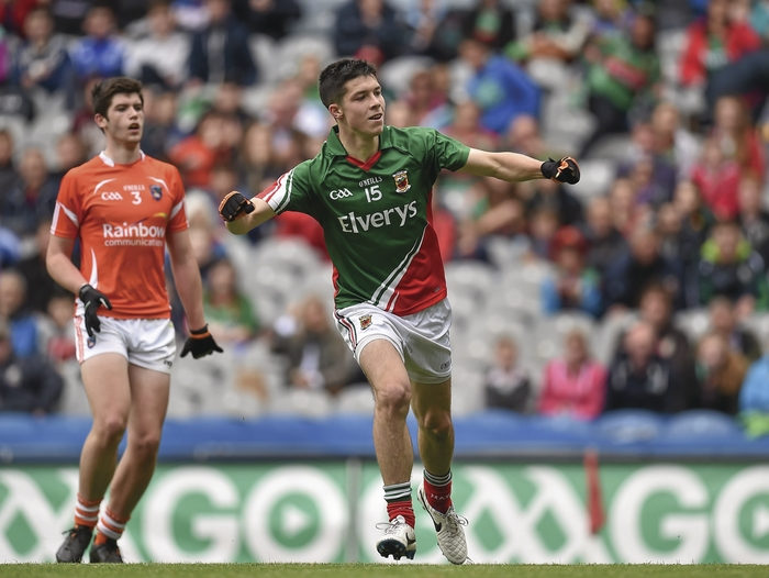 Goal getter: Brian Reape found the back of the net for Mayo, but they came up short at the end. Photo:Sportsfile