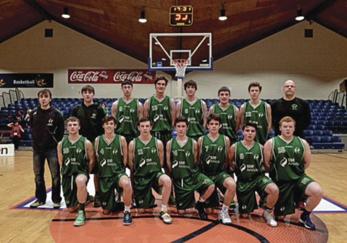 National U-20 Basketball Cup champions Moycullen:  Back row, coach Silva Campo, Conor Egan, Sean Candon,  Joseph Tummon, Stephen O'Brien, Daragh O'Sullivan, Kyle Cunningham,  coach Nollaig Cunningham. Front row, Daragh Mulkerrins, Rory Gilson, Conor Curran, Eoin Kelly, Sean Kelly, Rory Heffernan, and  Jack Costelloe . Missing from photo team manager Annie Costelloe.