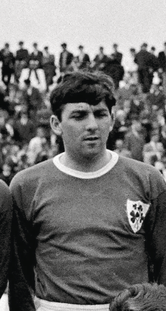 Paddy Mulligan pictured lining out for Ireland in 1966.