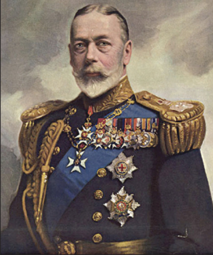 King George V: ' I pledge my word that within these ancient and historic walls your Colours will be treasured.'