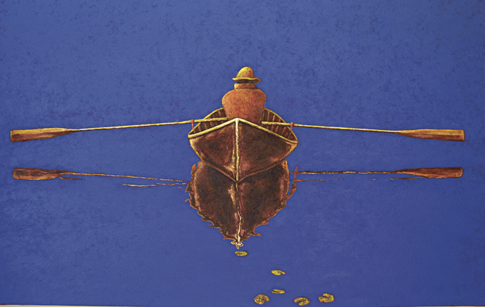 Blue Boatman 2 by Maurice Quillinan.