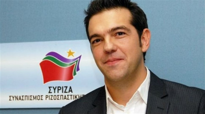 The new Greek prime minister Alex Tsipras.