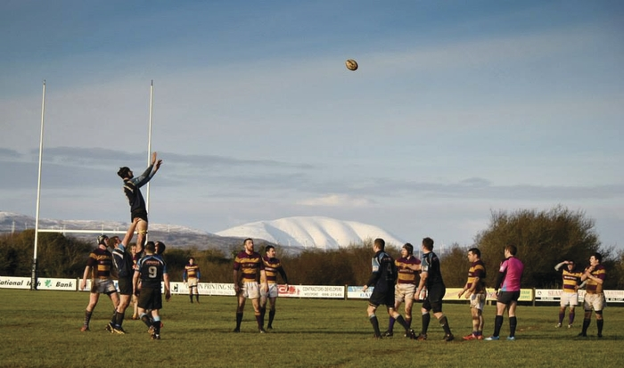 Up in the air: Castlebar win a line-out in last weekends game against Ballyhaunis. Photo: Ballyhaunis RFC