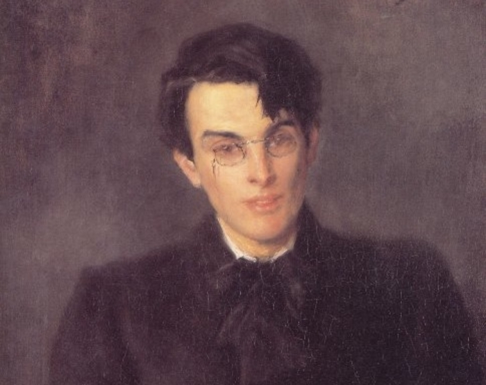 A portrait of William Butler Yeats by John Butler Yeats (1900).