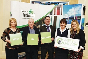 Pictured at the event are (l-r) Averil Burke, BEM Ireland; Eamon Howley, BEM Ireland; Darragh O'Connor, Clayton Hotel; Kathleen McDonagh, GoWest; and Letitia Wade, Failte Ireland.