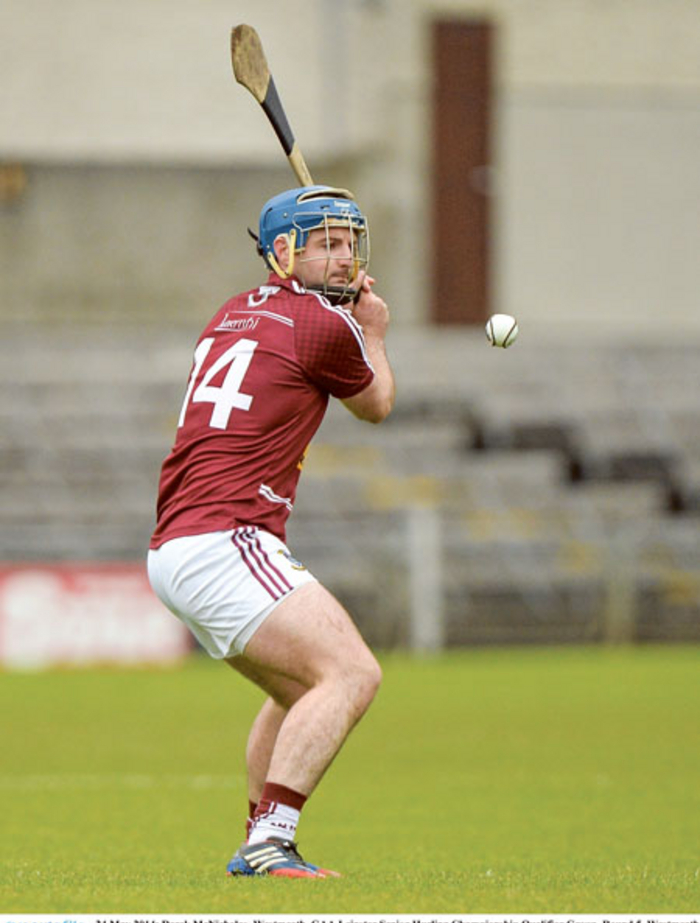 Derek McNicholas should be back from injury for Westmeath's clash against Kerry. Photo: Sportsfile