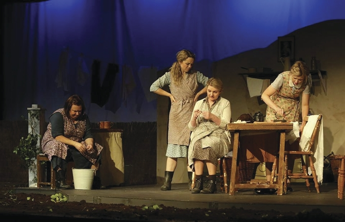 Yellow Moon Theatre Company from Wexford performed Dancing at Lughnasa by Brian Friel at the opening night of the 45th Claremorris Drama Festival. Photo: Claremorris Drama Festival.