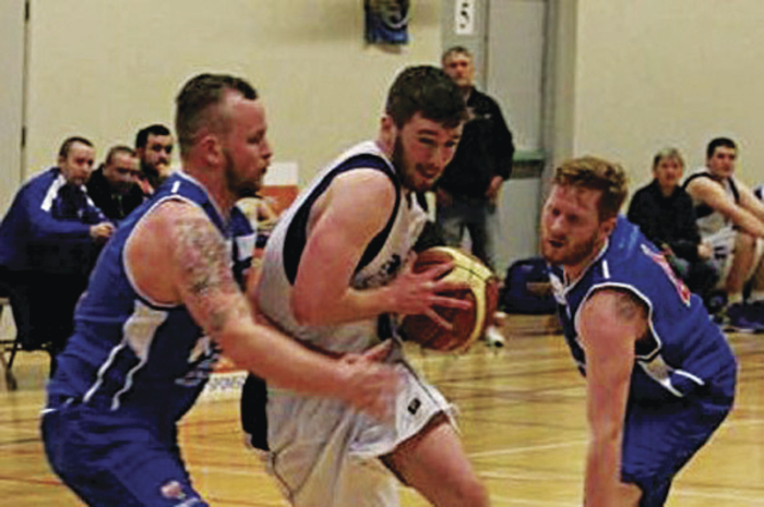 Donie Greene, in action last month for Maree Basketball against Blue Demons, Cork, in the National League.