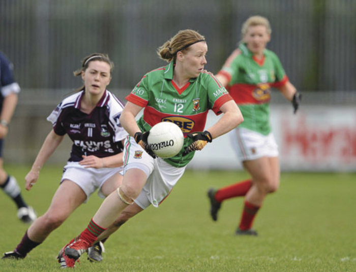 Sweeping role: Yvonne Byrne has been playing in a sweeper role for Mayo this year. Photo: Sportsfile.