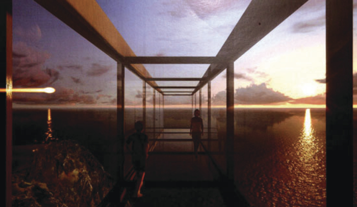 An artist's impression of what the Achill Skywalk might look like.