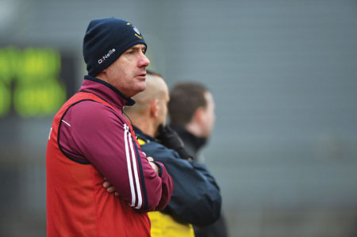 Westmeath manager Tom Cribbin pictured during last Sunday's match.  Photo: Sportsfile