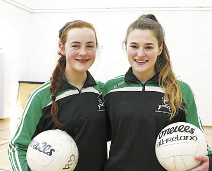 Cousins crusade: Bethany Duffy and Danielle Caldwell will be hoping to secure victory for Davitt College on Saturday. Photo: Michael Donnelly.