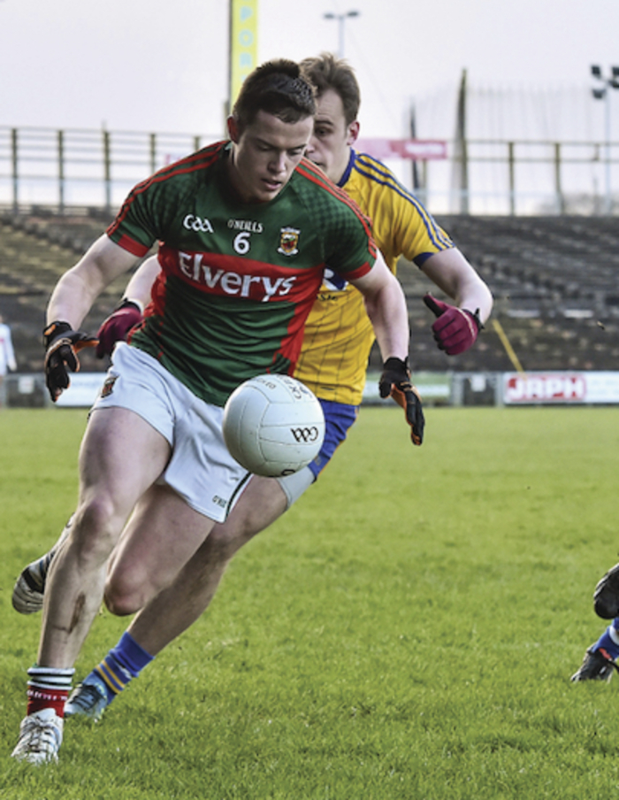 Down and out: Stephen Coen and the Mayo u21s exited the championship on Saturday. Photo:Sportsfile