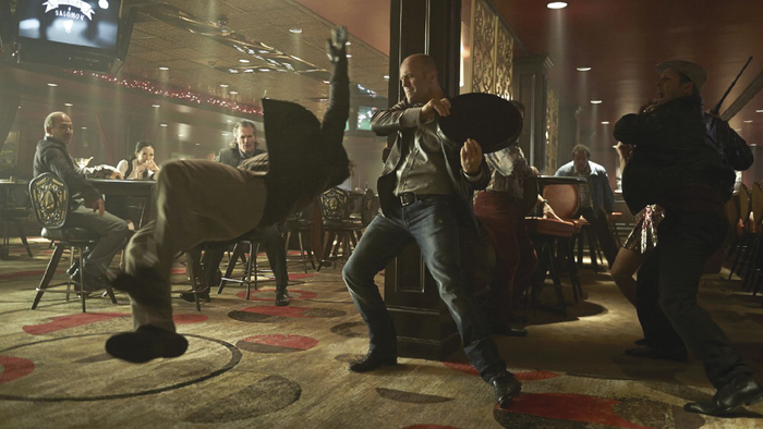 Jason Statham in full on fighting mode in Wild Card.
