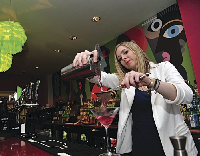 The House Hotel announces new head cocktail bartender Aileen Cunningham pictured in action at the House Hotel.