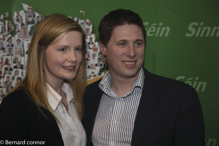 Sinn Féin Roscommon-Galway candidate Claire Kerrane with MEP Matt Carthy. Photo:- Bernard Connor.