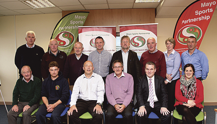 Members of the newly formed Mayo Sports Partnership Board with Chairman Cllr Brendan Mulroy at a recent meeting