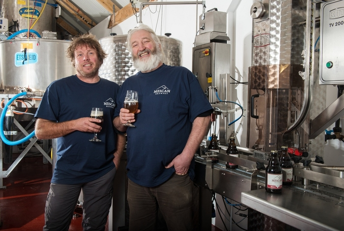 Cillian O'Morain and Bart Adons of Mescan Brewery