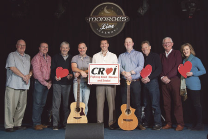 Pictured at the launch of Heartbreak Hotel are (LtoR): John O'Hare, Gary Monroe, Tony Maher, Dave Cooley, Barry McCann, Enda Dempsey, Mickey Belton, John Mulholland, and Carmel Dempsey.