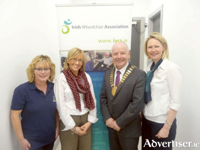 Maureen Lee, IWA volunteer; Charlene Hurley, IWA national fundraising manager; Cllr Frankie Keena, mayor of Athlone; and Monica Hughes, IWA service coordinator, pictured at the open day