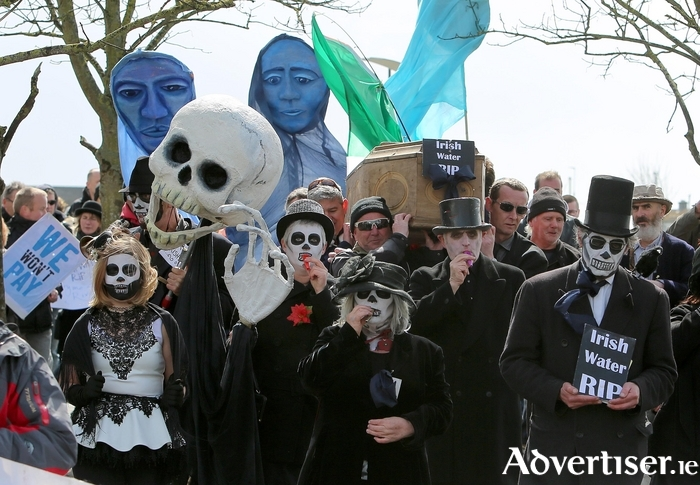 A photograph by Mike Shaughnessy from last weekend's Funeral Of Irish Water protest in Galway.