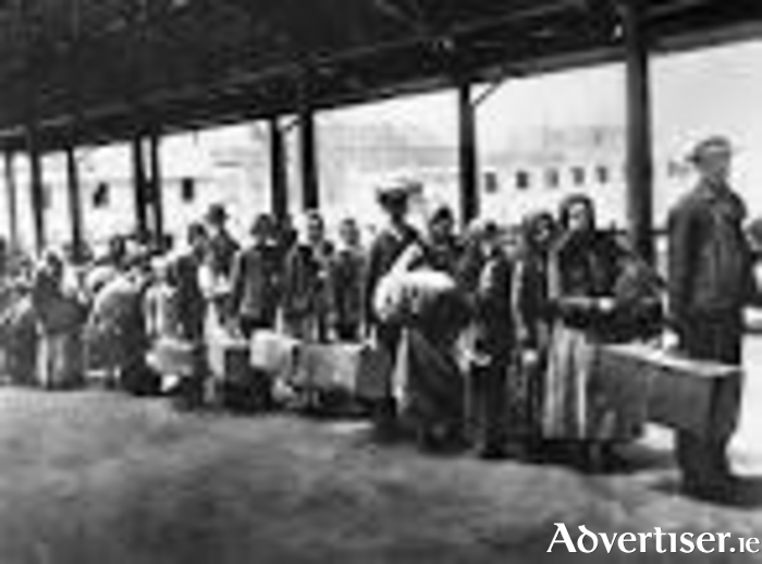New immigrants queue for health inspection at Ellis Island. Not everyone was allowed ashore.