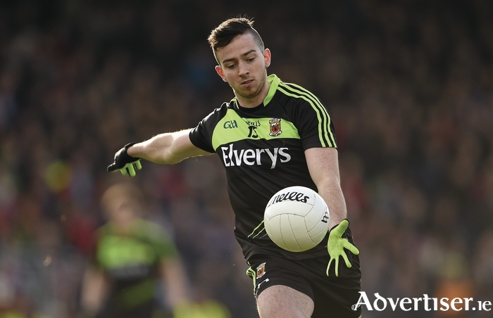 Out for 12 weeks: Evan Regan broke his collarbone again in training with Mayo during the week. Photo: Sportsfile