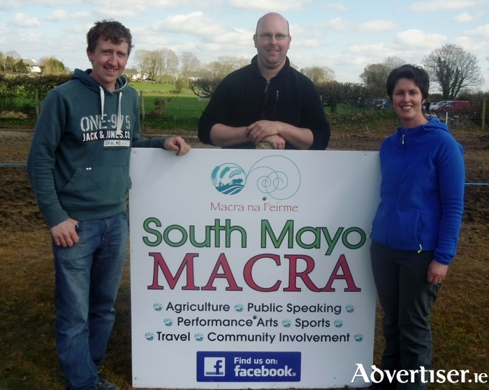Pictured are members of South Mayo Macra who won the Mayo Macra Farm Skills Competition held at the Mayo Ploughing Championships in Kilmaine last Sunday. The team members were Martin Jennings, Thomas Langan, and Lynne O'Malley.