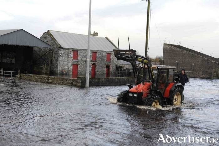 A scene from the floods that afflicted Claregalway in 2009. Photo:- Mike Shaughnessy