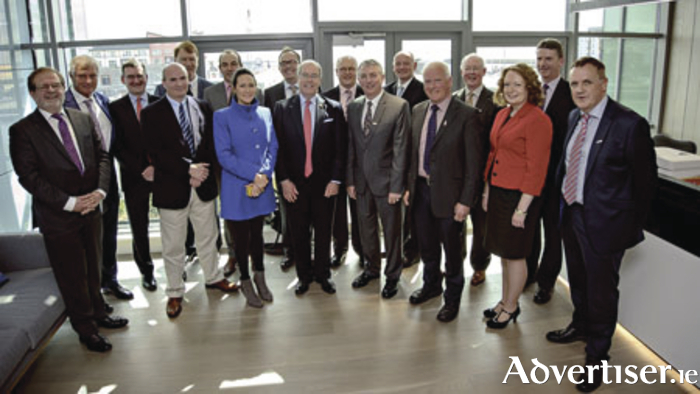 Galway Chamber members at a meeting in KPMG office with Ambassador Kevin O'Malley and Brian Thornton, Partner in Charge KPMG Galway.