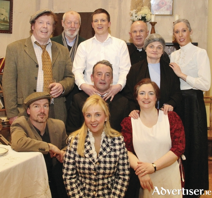 The Claremorris Players cast of A Wake in the West. Photo: Kathy Lyons.