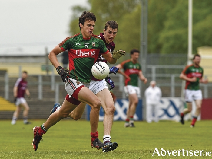 Running for glory: Michéal Forde on the attack for Mayo against Galway. Photo: Sportsfile