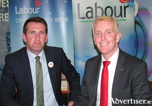 Minister for Equality Aodhán Ó Ríordáin and Labour Galway West TD Derek Nolan.