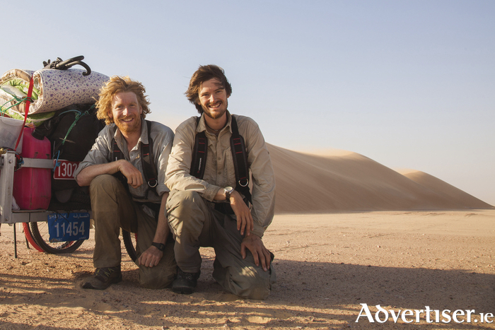 Alastair Humphreys and Leopn McCarronn in Into The Empty Quarter.