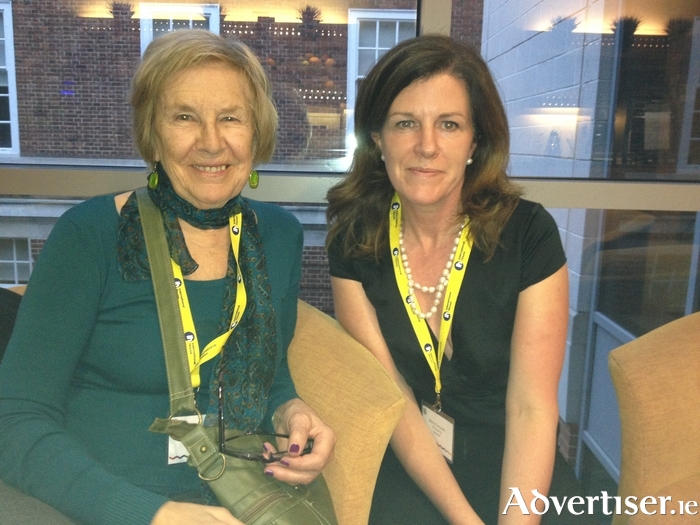 Mary Grennan, director, IH Galway, with Brita Haycraft, founder of IH, at the annual IH Academic Conference, Greenwich, London.