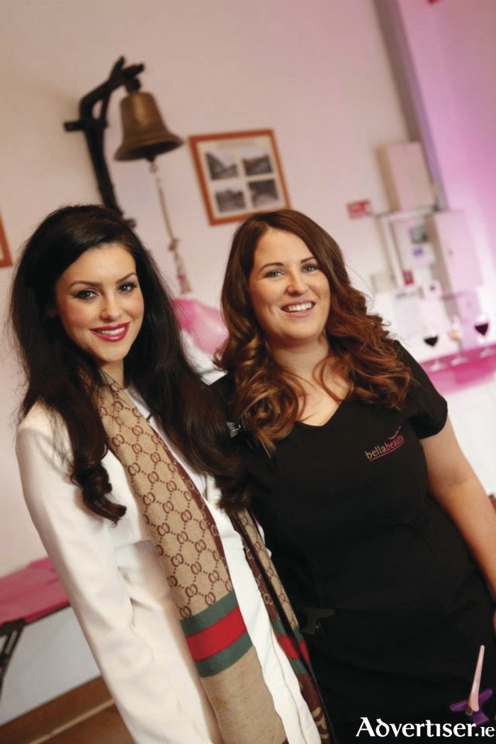 Stylist Evelyn Noone with beauty blogger Suzanne Jackson