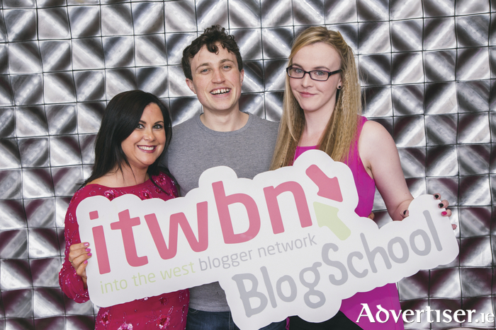 Pictured launching itwnBlogschool are ITWBN founder Sinéad Carroll, Micheal Reilly of Educated Machine and ITW