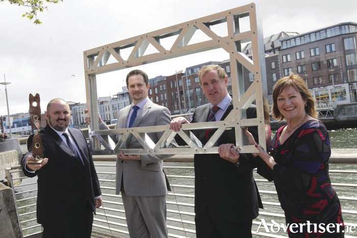 Left to right: Kieran Comerford, chairperson of the LEO Network; Peter Kosowski, general manager - Vision Built; Gerry McCarthy, managing director - Vision Built, and Breda Fox, head of enterprise, Local Enterprise Office, Galway.