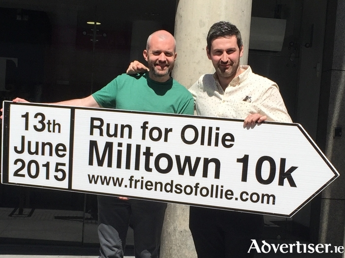 Eoin McDevitt and Ciaran Murphy from RTE's and Irish Times show Second Captains pictured at the launch of the Run for Ollie.