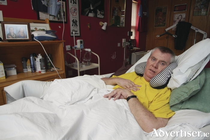 Alan Donnellan living with multiple sclerosis. Photo:- Mike Shaughnessy