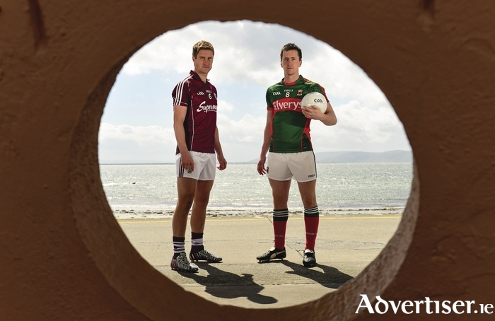 See you Sunday: Cillian O'Connor and Gary O'Donnell get ready for Sunday's showdown in Salthill. Photo: Sportsfile
