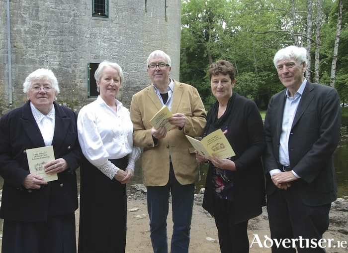At the launch of the Lady Gregory of Coole Park Autumn Gathering 20 15 were ( l-r) Sr Mary deLourdes Fahy, Marion Cox, Ronnie O'Gorman, Rena McAllen and Joe Hassett.  Photo:-Mike Shaughnessy
