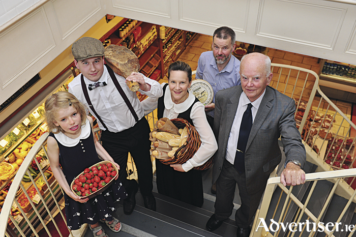 Four generations and ninety years of high quality retail of quality food, wine and retail at McCambridge's Savour the in store celebrations Friday July 3 and Saturday 4. Una McCambridge (granddaughter),  Cormac Heskin (grandson),  Natalie McCambridge,  director, Eoin Mc Cambridge managing director and Pat McCambridge retired director,  whose father George founded McCambridge's in 1925.   Photo: Boyd Challenger