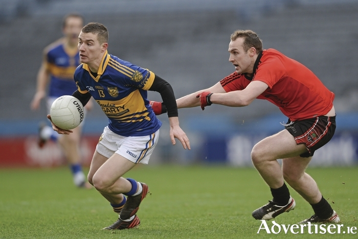 Doing it the hard way: Mikie Sweeney and his Kiltane side survived a late scare to make it to the last eight of the senior championship. Photo: Sportsfile.