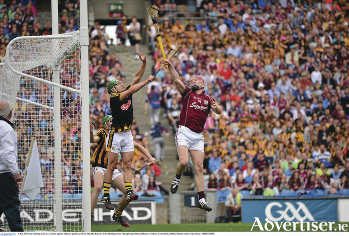 The highlight of Galway and goal of the game: Galway's Joe Canning in action against Kilkenny goalkeeper Eoin Murphy seizes the chance to strike for a superb goal in Sunday's Leinster GAA Hurling Senior Championship final at Croke Park, Dublin.